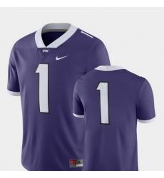 Men Tcu Horned Frogs 1 Purple College Football 2018 Game Jersey