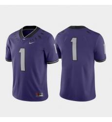 Men Tcu Horned Frogs 1 Purple Game College Football Jersey