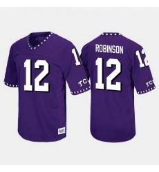 Men Tcu Horned Frogs Shawn Robinson Throwback Purple Jersey