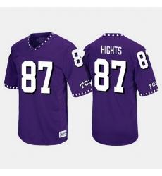 Men Tcu Horned Frogs Trevontae Hights Throwback Purple Jersey