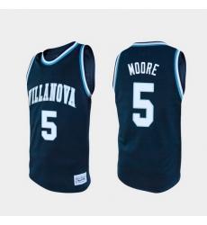 Men Villanova Wildcats Justin Moore Alumni Navy College Baketball Jersey (2)