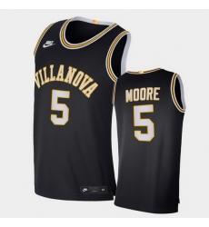 Men Villanova Wildcats Justin Moore Retro Limited Navy Elite Jersey