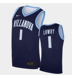 Men Villanova Wildcats Kyle Lowry Replica Navy College Basketball Jersey