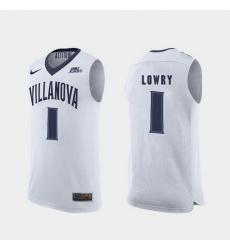 Men Villanova Wildcats Kyle Lowry White Replica College Basketball Jersey