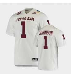 Men Texas A&M Aggies Buddy Johnson 2021 Orange Bowl College Football White Jersey