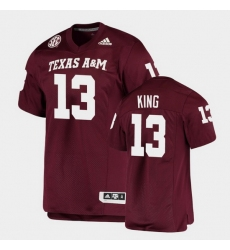 Men Texas A&M Aggies Haynes King Alumni Football Game Maroon Jersey