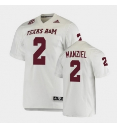 Men Texas A&M Aggies Johnny Manziel College Football White Premier Jersey