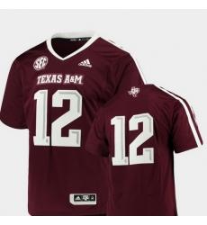 Men Texas A&M Aggies Maroon College Football Premier Jersey