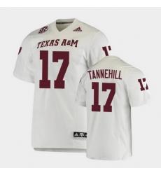 Men Texas A&M Aggies Ryan Tannehill College Football White Premier Jersey