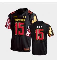 Men Maryland Terrapins Brian Cobbs Replica Black College Football Jersey