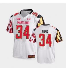 Men Maryland Terrapins Jake Funk College Football White Game Jersey