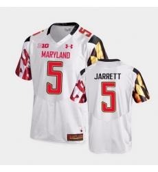 Men Maryland Terrapins Rakim Jarrett College Football White Game Jersey