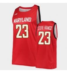 Men Maryland Terrapins Steve Francis Hardwood Classics Red Basketball Jersey