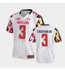 Men Maryland Terrapins Taulia Tagovailoa College Football White Game Jersey