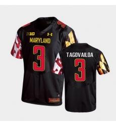 Men Maryland Terrapins Taulia Tagovailoa Replica Black College Football Jersey