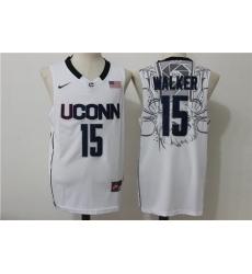 Huskies #15 Kemba Walker White Basketball Stitched NCAA Jersey