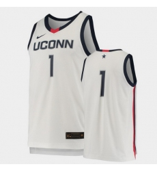 Men Uconn Huskies White Replica College Basketball Jersey