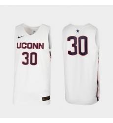 Men Uconn Huskies White Replica College Basketball Nike Jersey