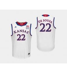 Men Kansas Jayhawks Silvio De Sousa White College Basketball Jersey