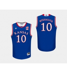 Men Kansas Jayhawks Sviatoslav Mykhailiuk Royal College Basketball Jersey
