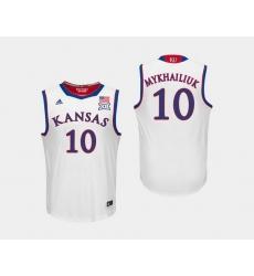Men Kansas Jayhawks Sviatoslav Mykhailiuk White College Basketball Jersey