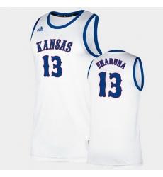 Men Kansas Jayhawks Tristan Enaruna Classic White College Basketball Jersey