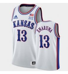 Men Kansas Jayhawks Tristan Enaruna White 1990S Throwback Jersey
