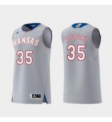 Men Kansas Jayhawks Udoka Azubuike Gray Replica College Basketball Jersey