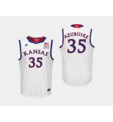 Men Kansas Jayhawks Udoka Azubuike White College Basketball Jersey