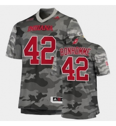 Men Indiana Hoosiers D.K. Bonhomme College Football Gray Salute To Service Jersey