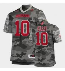 Men Indiana Hoosiers David Ellis College Football Gray Salute To Service Jersey