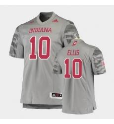 Men Indiana Hoosiers David Ellis Premier Gray Football Jersey