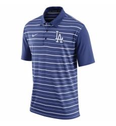 MLB Men Los Angeles Dodgers Nike Royal Dri FIT Stripe Polo