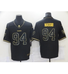 Nike Los Angeles Raiders 94 Carl Nassib Gold Black Vapor Untouchable Limited Jersey