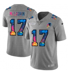 Washington Redskins 17 Terry McLaurin Men Nike Multi Color 2020 NFL Crucial Catch NFL Jersey Greyheather