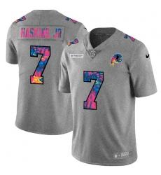 Washington Redskins 7 Dwayne Haskins Jr Men Nike Multi Color 2020 NFL Crucial Catch NFL Jersey Greyheather