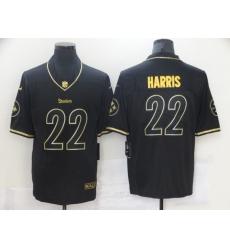 Nike Steelers 22 Najee Harris Black Gold Vapor Untouchable Limited Jersey