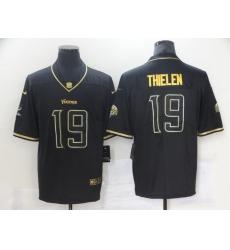 Nike Vikings 19 Adam Thielen Black Gold Vapor Untouchable Limited Jersey