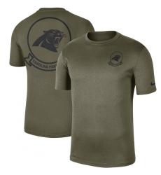 Men Carolina Panthers Nike Olive 2019 Salute To Service Sideline Seal Legend Performance T Shirt