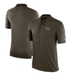 Men Carolina Panthers Nike Olive Salute to Service Sideline Polo T Shirt