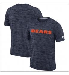 Men Chicago Bears Nike Navy Velocity Performance T Shirt