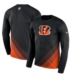 Men Cincinnati Bengals Nike Black Sideline Legend Prism Performance Long Sleeve T Shirt