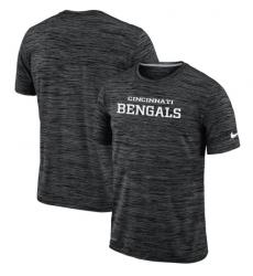 Men Cincinnati Bengals Nike Black Velocity Performance T Shirt