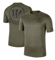 Men Cincinnati Bengals Nike Olive 2019 Salute To Service Sideline Seal Legend Performance T Shirt