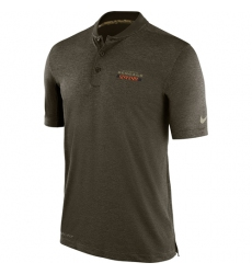 Men Cincinnati Bengals Nike Olive Salute to Service Sideline Polo T Shirt