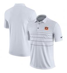 Men Cincinnati Bengals Nike White Early Season Polo
