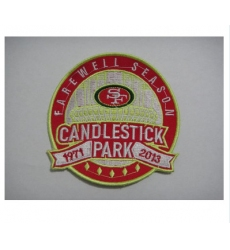Stitched NFL San Francisco 49ers Candlestick Park Farewell Season Patch
