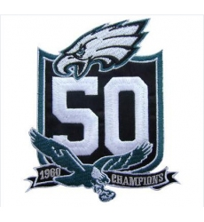 Stitched Philadelphia Eagles 50th Anniversary Jersey Patch