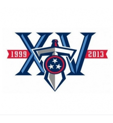 Stitched Tennessee Titans 10th Anniversary Jersey Patch
