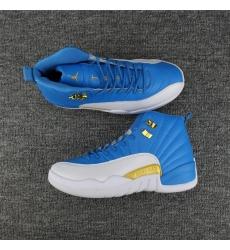 Air Jordan 12 2017 New Design White Blue Men Shoes